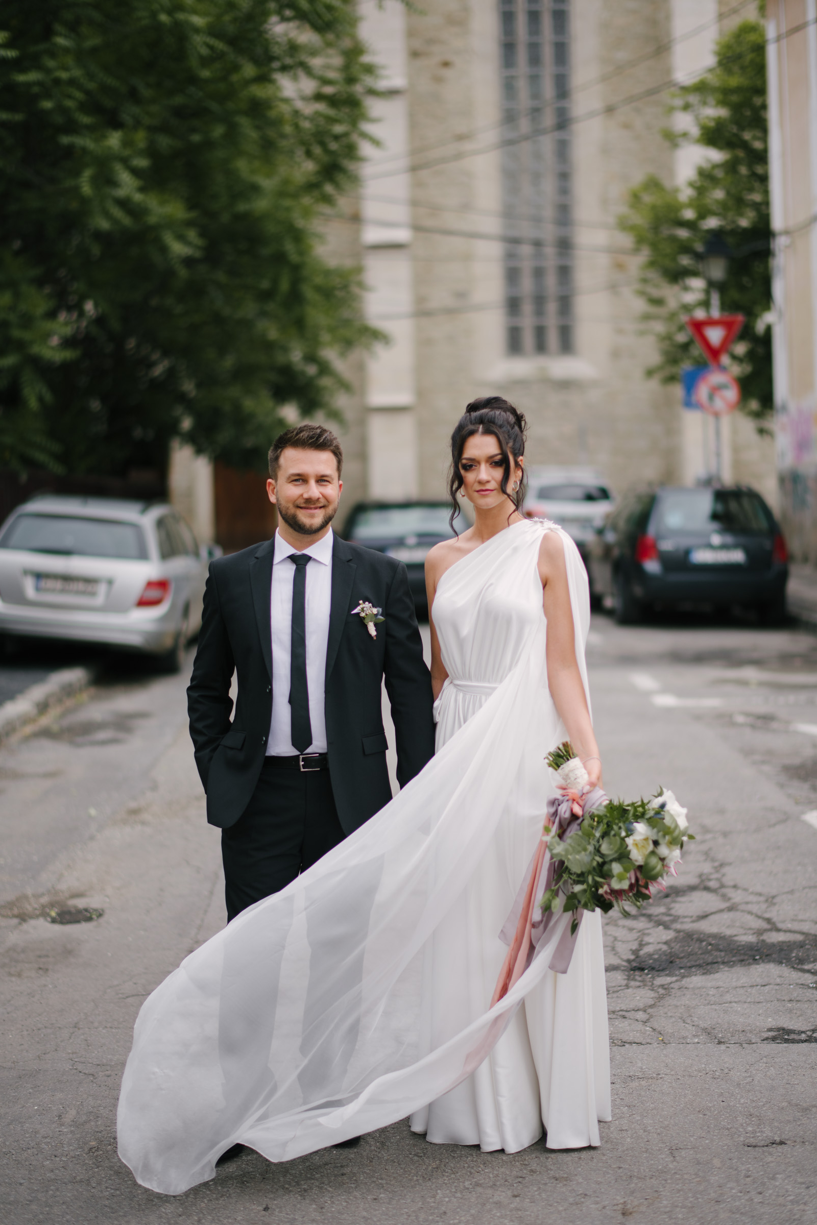 Bride And Groom Cluj Streets