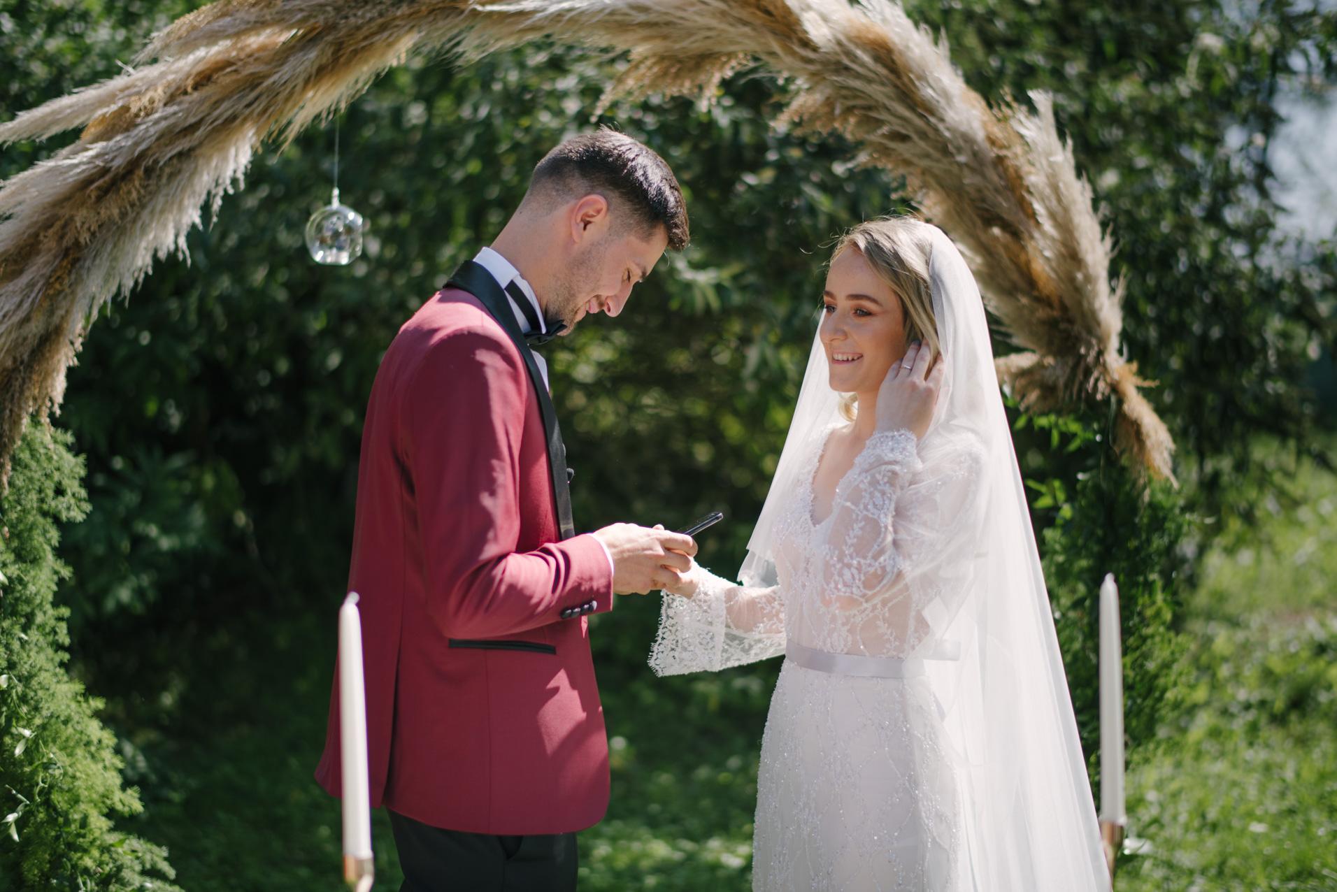 Emotional wedding vows