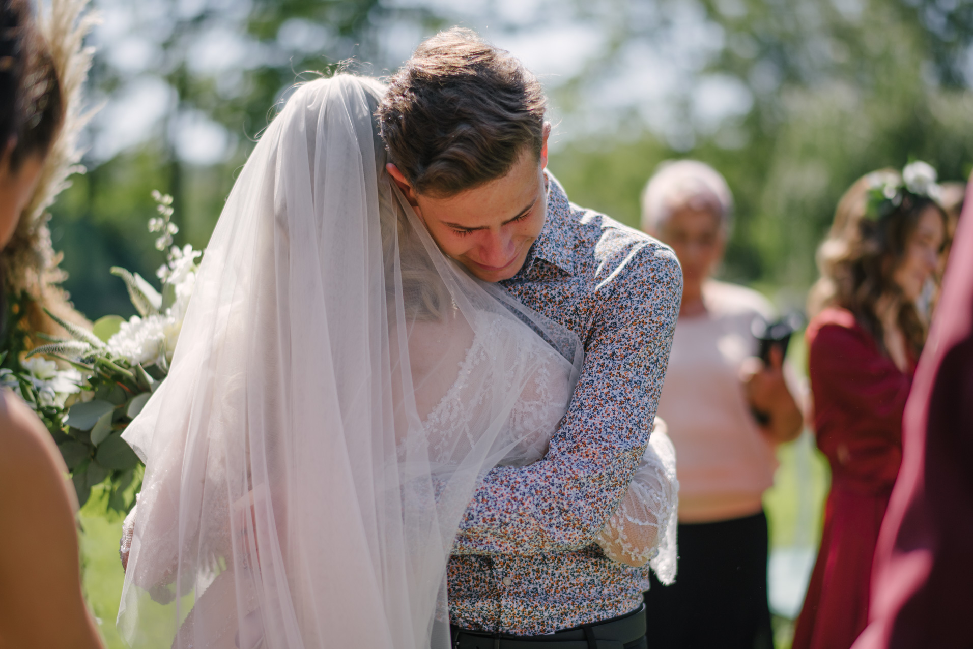 Moment emotionant la nunta