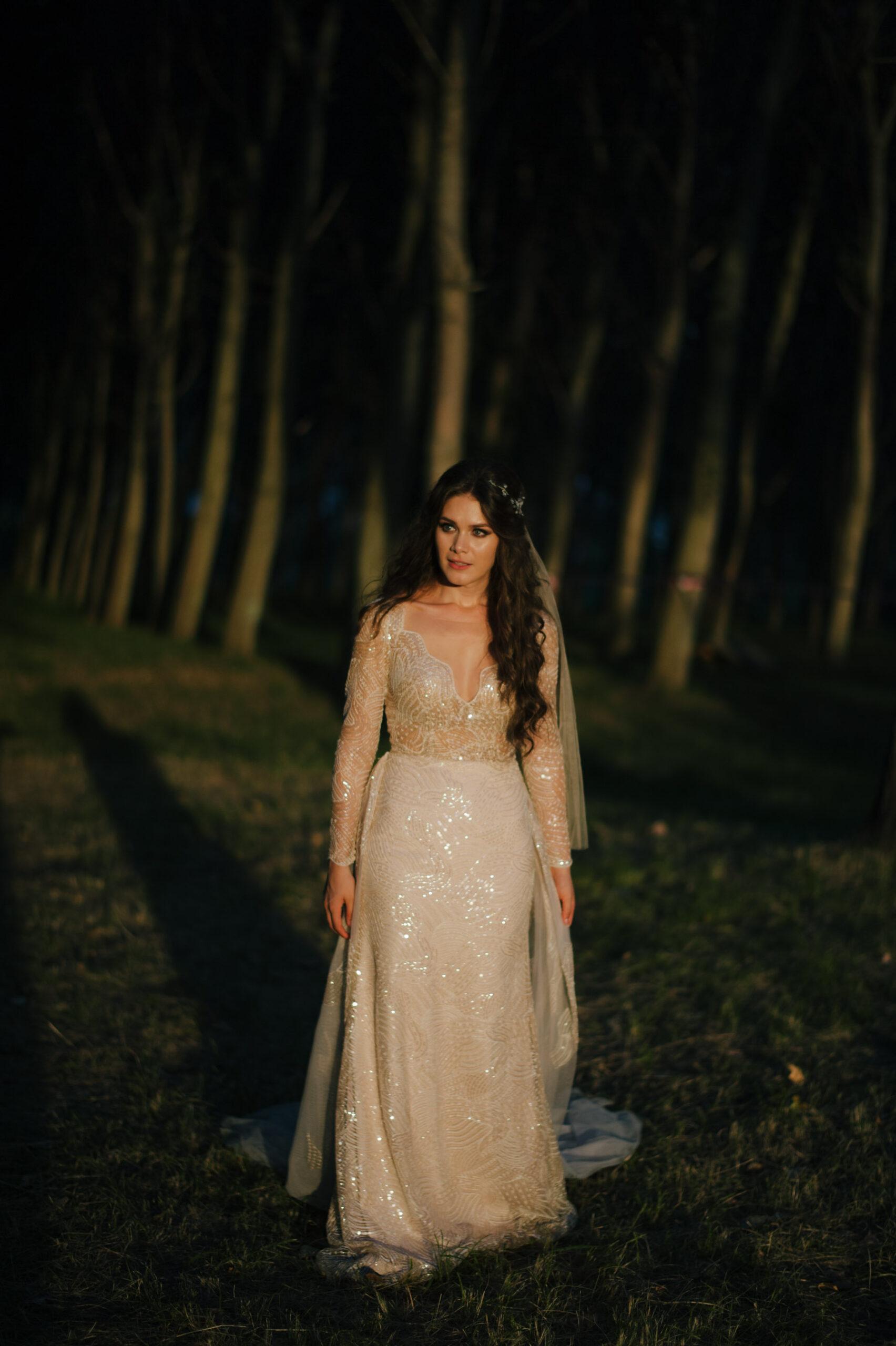 Bride Portrait Using Nikon 58 f1.4G